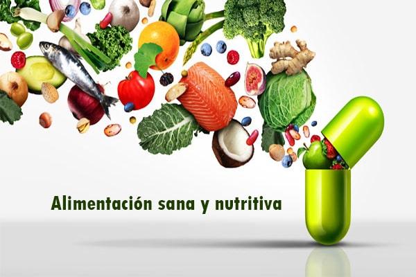 alimentación sana y nutritiva