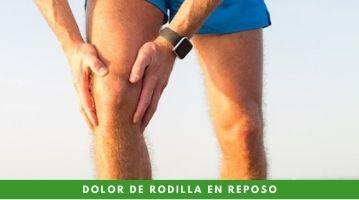 ¿Es posible el dolor de rodilla en reposo? ¿Qué lo genera?